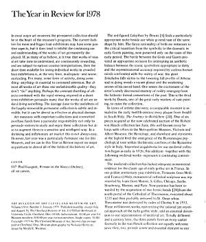 The Bulletin of the Cleveland Museum of Art PDF