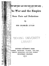 The War and the Empire: Some Facts and Deductions