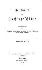 Zeitschrift für Rechtsgeschichte: Band 9