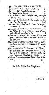 L'État de la France: ou l'on voit tous les princes, ducs et pairs, marêchaux de France, et autres officiers de la couronne ..., Volume5