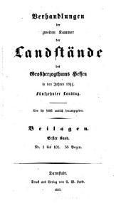 Verhandlungen der Zweiten Kammer der Landstände des Großherzogthums Hessen: 1857/59,3,[a]