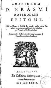 Adagiorum D. Erasmi Roterodami Epitome