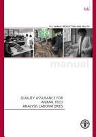 QUALITY ASSURANCE FOR ANIMAL FEED ANALYSIS LABORATORIES PDF