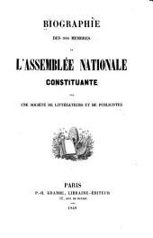 Biographie des 900 membres de l'Assemblée nationale constituante