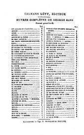 Oeuvres complètes de George Sand: La confession d'une jeune fille