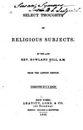 Select thoughts on religious subjects