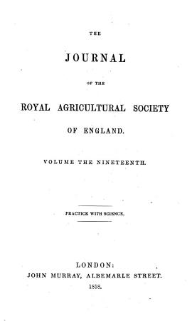 Journal of the Royal Agricultural Society of England PDF