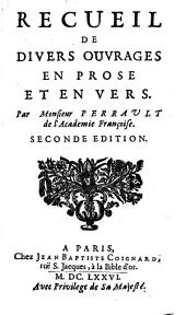Recueil de divers ouvrages en prose et en vers. 2. ed