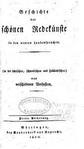 Geschichte der Litteratur von ihren Anfang bis auf die neuesten Zeiten: Band 4,Teil 3