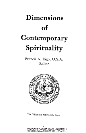 Dimensions of Contemporary Spirituality