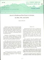 Use of a ponderosa pine forest in Arizona by deer, elk, and cattle