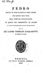 Favole recate in versi Italiani coll'aggiunta delle favole del codice Perottino