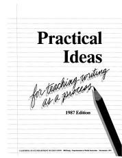 Practical Ideas for Teaching Writing as a Process PDF