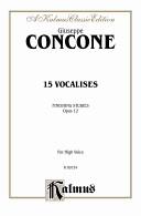 Fifteen vocalises