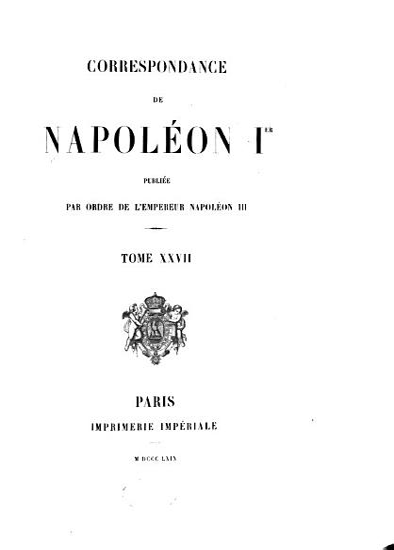 Correspondance de Napol  on Ier PDF