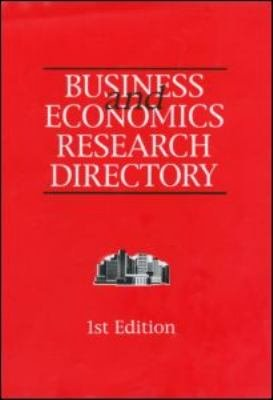 Business and Economics Research Directory PDF