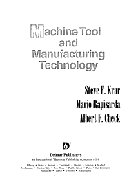 Machine Tool and Manufacturing Technology PDF