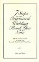 7 Steps to an Organized Wedding Thank You Note PDF