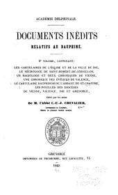 Documents inédits relatifs au Dauphiné: t.1. Le Camus, Etienne. Lettres du Cardinal Le Camus ... 1892: Volume2