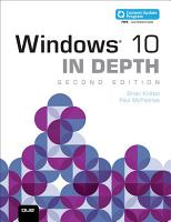 Windows 10 In Depth  includes Content Update Program  PDF