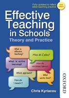 Effective Teaching in Schools Theory and Practice PDF