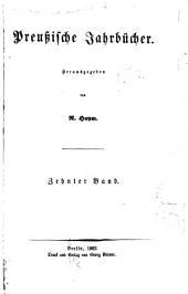 Preussische Jahrbücher: Band 10