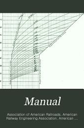 Manual of the American Railway Engineering Association