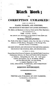 The Black Book: Or, Corruption Unmasked!