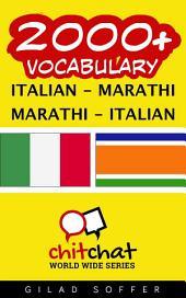 2000+ Italian - Marathi Marathi - Italian Vocabulary