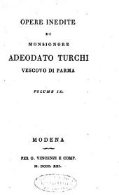 Opere inedite di monsignore Adeodato Turchi, vescovo di Parma. Volume 1. [-10.]: Volume 1;Volume 9