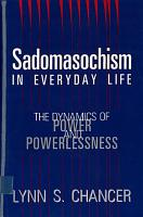 Sadomasochism in Everyday Life PDF