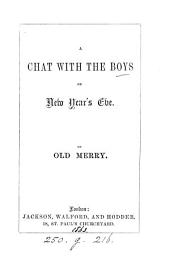 A chat with the boys on New year's eve, by Old Merry