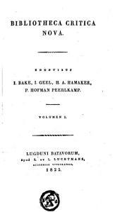 Bibliotheca critica nova: Volume 1