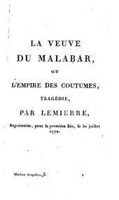 Théâtre des auteurs du second ordre, ou Recueil des tragédies et comédies restées au Théâtre Français: tragédies