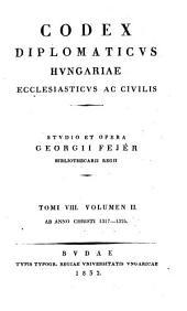 Codex diplomaticvs Hvngariae ecclesiasticvs ac civilis: Volume 2; Volume 8