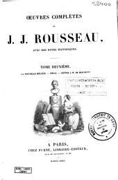 Oeuvres complètes de J. J. Rousseau: La nouvelle Héloïse
