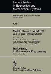 Redundancy in Mathematical Programming: A State-of-the-Art Survey