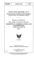 Soviet Space Programs PDF