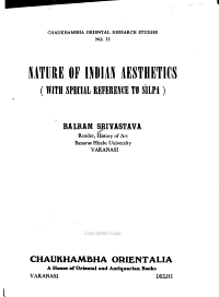 Nature of Indian Aesthetics  with Special Reference to   ilpa PDF