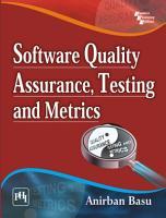 SOFTWARE QUALITY ASSURANCE  TESTING AND METRICS PDF