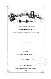 Pennsylvania Archives: Volume 30