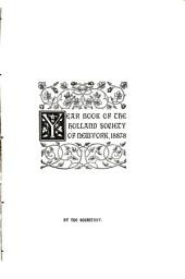 Year Book of the Holland Society of New-York