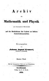 Archiv der Mathematik und Physik: Band 2