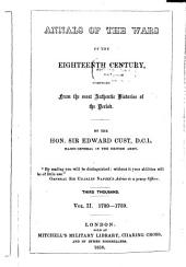 Annals of the Wars of the Eighteenth Century, Compiled from the Most Authentic Histories of the Period: 1739-1759. II