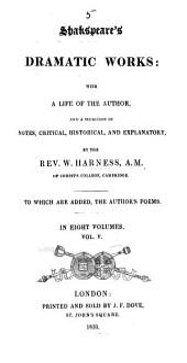 The Dramatic Works of William Shakspeare: Volume 5