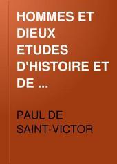 HOMMES ET DIEUX ETUDES D'HISTOIRE ET DE LITTERATURE
