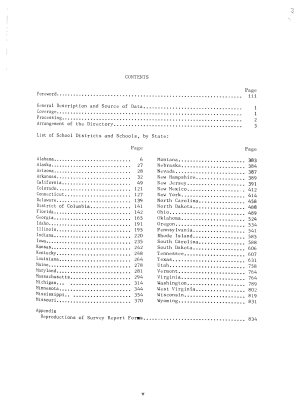 Directory  Public Elementary and Secondary Schools in Large School Districts with Enrollment and Instructional Staff  by Race  Fall 1967