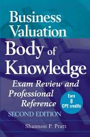 Business Valuation Body of Knowledge PDF