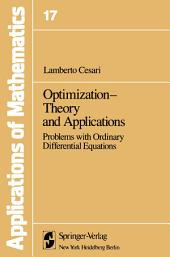 Optimization—Theory and Applications: Problems with Ordinary Differential Equations