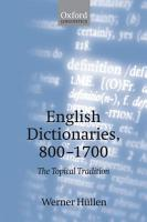 English Dictionaries  800 1700 PDF